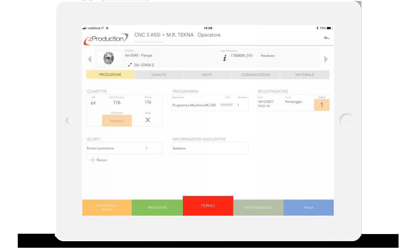 zProduction-Raccolta Dati in produzione da iPad